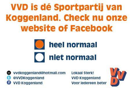 VVD Koggenland is dé sportpartij van Koggenland