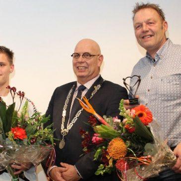 Hans Blaauw vrijwilliger van het jaar 2019 en Dave Kok sporter van het jaar 2019 gemeente Koggenland