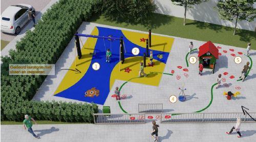 Drie speelplaatsen in Berkhout worden vernieuwd
